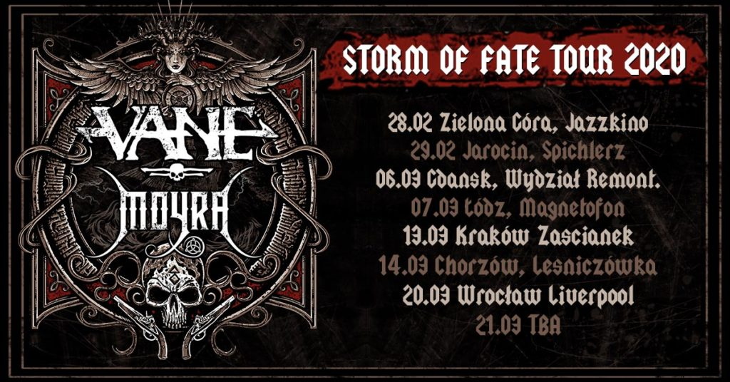 Yes Tour 2020.Storm Of Fate Tour 2020 Announced Vane
